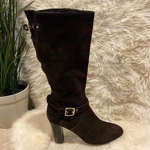Coach Robynn Suede Leather Knee High Boots | 11